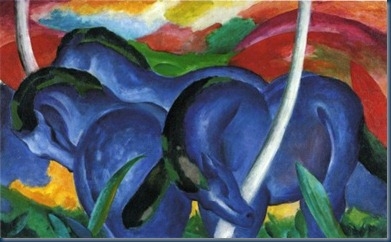 Los caballitos azules Franz Marc 1911