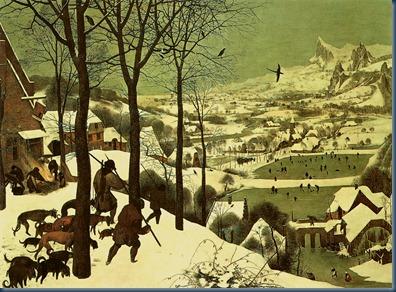 Cazadores en la nieve 1565