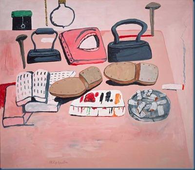 La mesa del pintor Philip Guston 1973