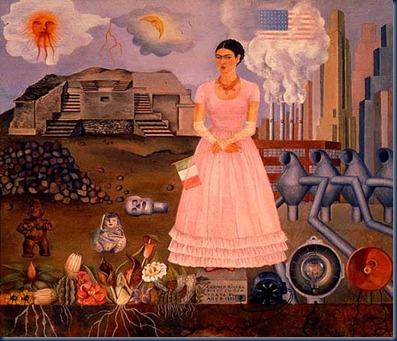 Autorretrato en la frontera entre México y Estados Unidos, 1932.