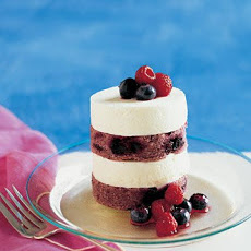 Individual Red, White, and Blueberry Layer Cakes