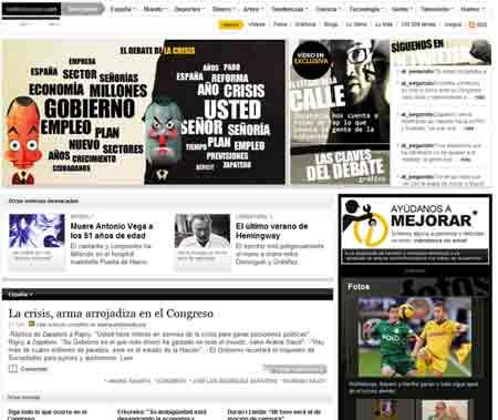 Portada sobre el debate del estado de la nación de La Información.com