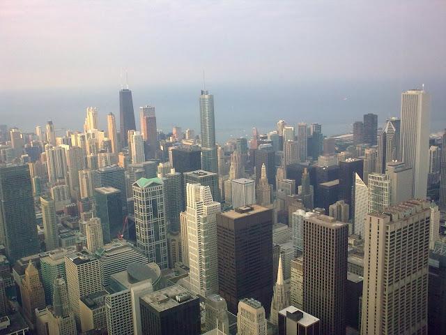 Los rascacielos de Chicago desde lo alto de la Torre Sears