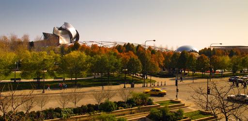 Millenium Park desde la antigua Biblioteca Publica de Chicago. Imagen tomada por Raul Alvarez Gonzalez