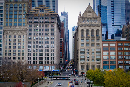 Vista de Monroe St. en Chicago. Imagen tomada por Raul Alvarez Gonzalez