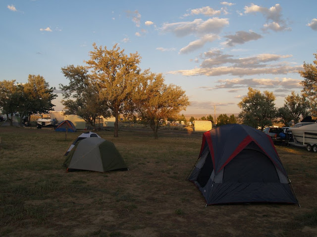 Our campsite at Buckboard Campground in Flaming Gorge, Wyoming