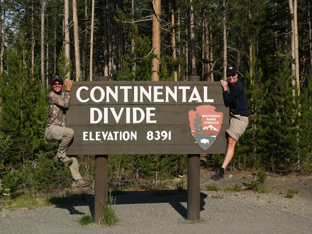 We crossed the Continental Divide again...