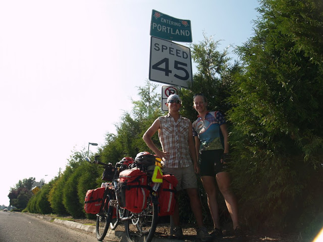 We rode the last 20 miles into Portland and to Josh and Alinas.