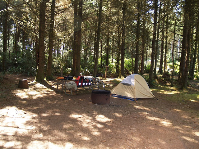 My private biker/hiker site at Cape Blanco campground.