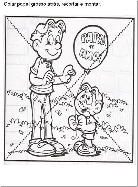 Dia dos pais quebra-cabeça