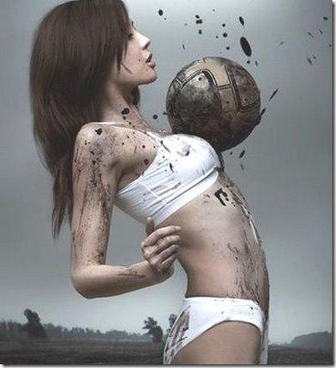 mulher e o futebol
