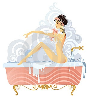 mulher-em-uma-banheira-delícia-nua
