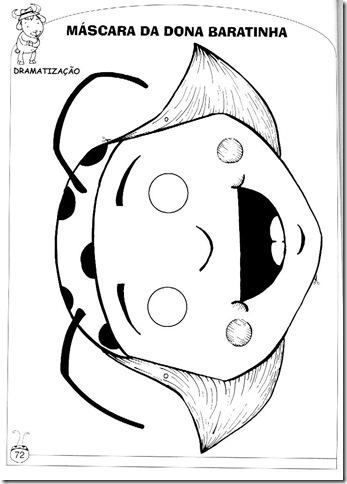 Máscara da Dona Baratinha – atividade pronta