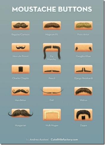 tipos de bigodes