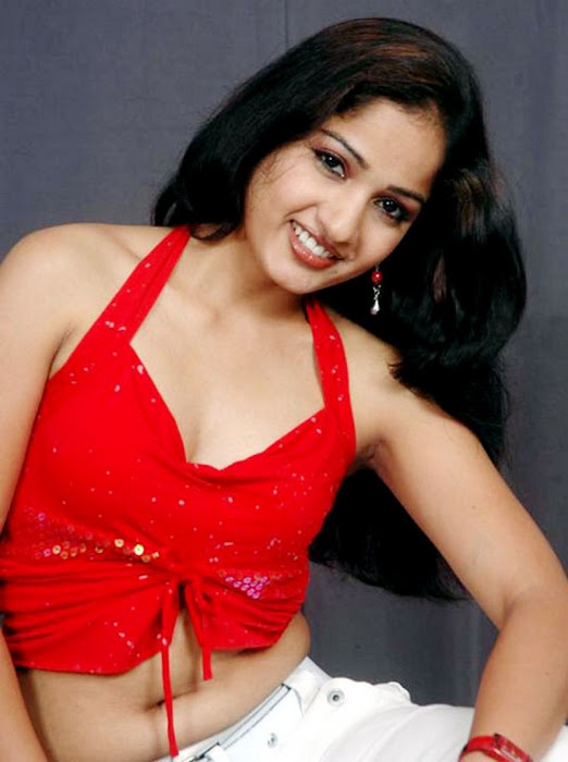 madhavi latha sizzles in redstights closeup views glamour images