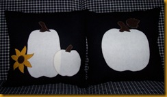Black & White Appliqued Pillows