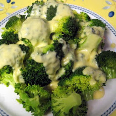 Broccoli with Two-Cheese Horseradish Sauce