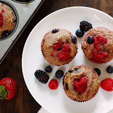 Mixed Berry Whole Wheat Muffins