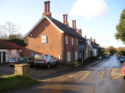 Looking down the only road left in town, with the Ship Inn and the Museum on the left