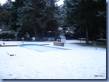 Quando acordamos tinha neve para todo lado!