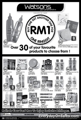 Watsons-Buy-One-Get-Another-One-For-RM1-2011-EverydayOnSales-Warehouse-Sale-Promotion-Deal-Discount