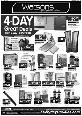 watsons-4days-great-deals-2011-EverydayOnSales-Warehouse-Sale-Promotion-Deal-Discount