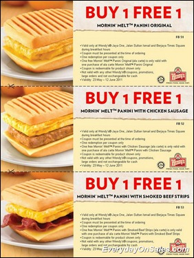 Wendys-Deal-Buy-1-Free-1-Morning-Melt-Panini-2011-EverydayOnSales-Warehouse-Sale-Promotion-Deal-Discount