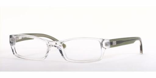 Óculos de Grau Ray Ban RX5068 Transparente com Preto