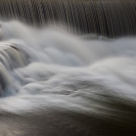 Vermillion Falls Closeup by Chris Hurst - Landscapes Waterscapes ( water, minnesota, creek, waterfall, long exposure, hastings, vermillion, river,  )