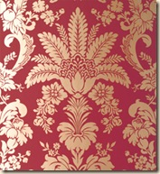 Thibaut Addison Damask-River Road Coll.- Metallic on Cranberry