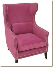 Bernhardt Furniture Pink Velvet Wing Back 5-10-11