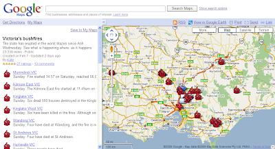 【Google】オーストラリア山火事の最新状況をGoogleマップで公開
