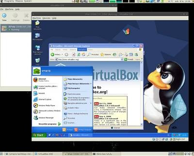 virtualbox windows xp linux ubuntu