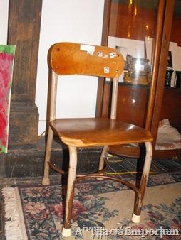 vintage child school chair