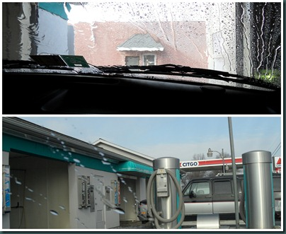 car wash collage