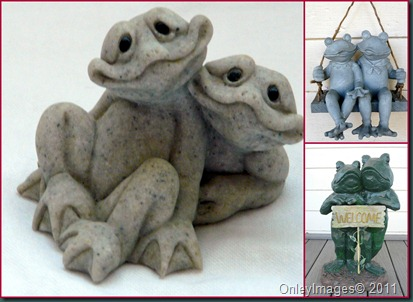 frog couple collage