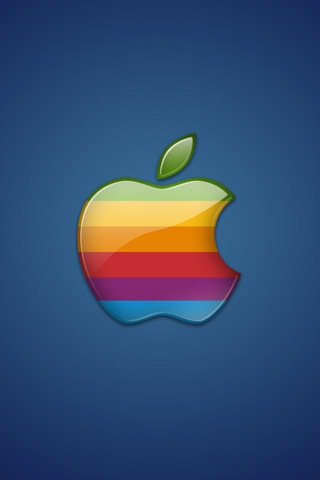 Colorful Apple Logo iPhone Wallpaper