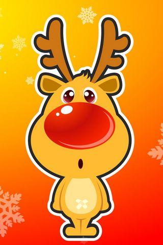 Cute Reindeer Picture iPhone Wallpaper