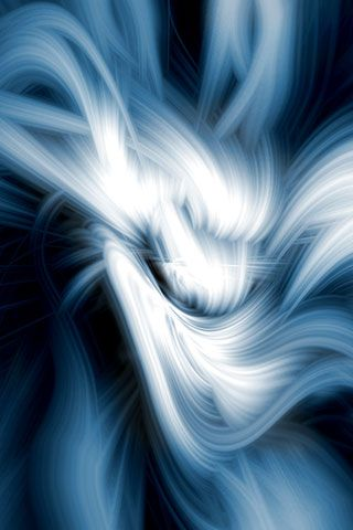 White Abstract Art On Blue Background iPhone Wallpaper