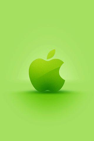 Green Apple Logo iPhone Desktop Wallpaper