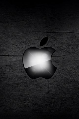Black Apple Logo On Black Background iPhone Wallpaper