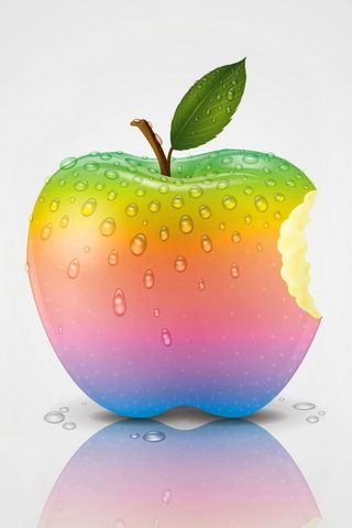 Colorful Apple Graphic iPhone Wallpaper