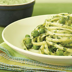 Spinach & Pea Pesto Linguine