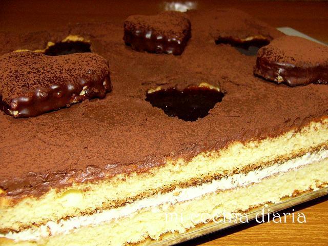 Tarta con corazones (Торт с сердечками)