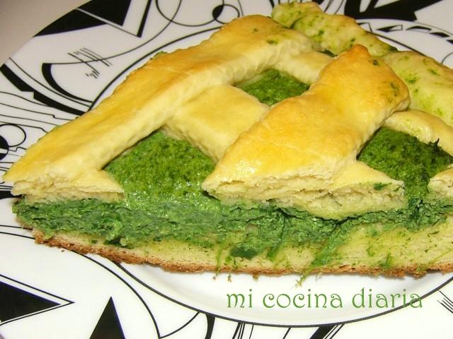 Torta de espinacas y ricotta (Пирог со шпинатом и рикоттой)