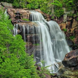Whitewater Falls Revisited by Dave Sansom - Landscapes Waterscapes