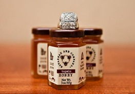 Savannah bee honey wedding favors