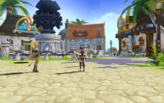 Lime Odyssey graphics actually look a bit like World of Warcraft