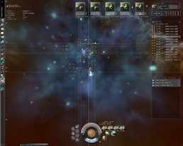 Eve Online mission in progress