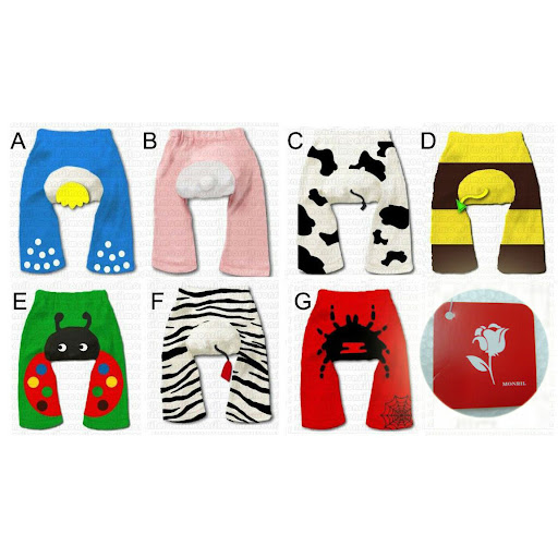 3D Animal Monril PP Pants